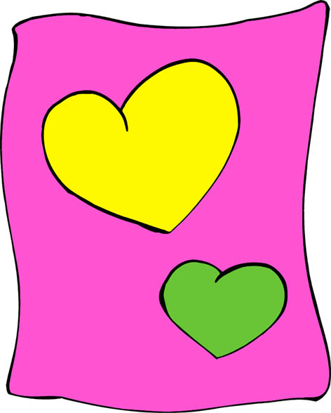 2 hearts on pink