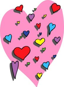 love heart drawings hearts many colors