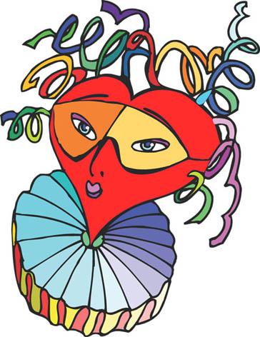 love heart drawings heartface girl