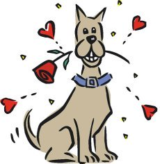 love heart drawings smiling dog hearts rose