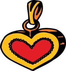 drawings of hearts pendant love heart
