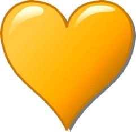 Orange love heart christoph brill