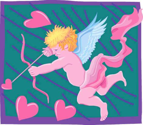 imagenes de amor cupid flying pink hearts arrow