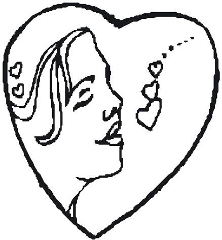 drawings love heart woman in heart sketch