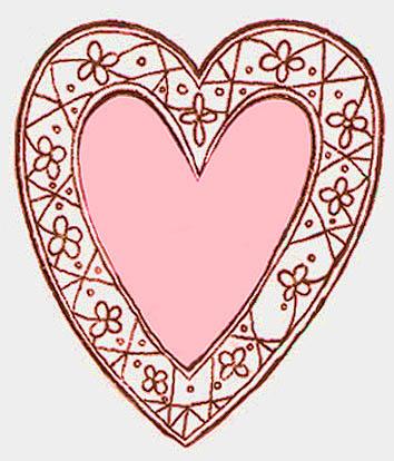 heart drawings decorative pink love heart