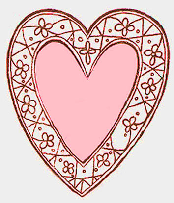 heart drawings decorative pink love heart