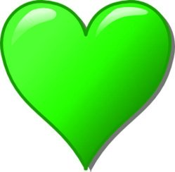 dibujos de amor green love heart