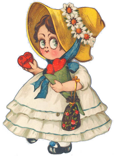 dibujos de amor girl red love hearts Valentine