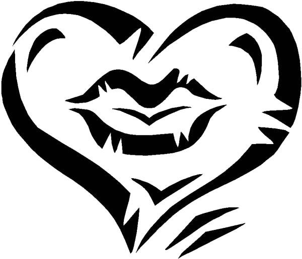 imagenes de amor love heart black drawing lips