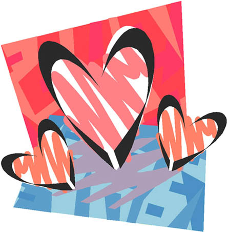 artistic love hearts