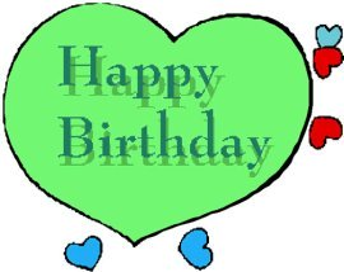 drawings of hearts green happy birthday heart