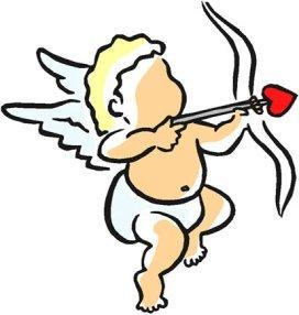 baby cupid love heart arrow