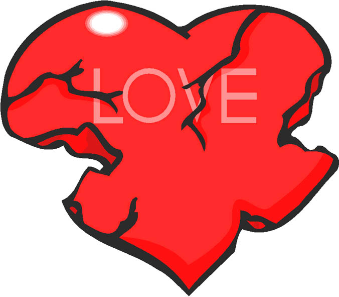 heart drawings red battered love heart