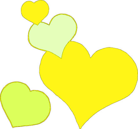 hearts 4 yellow color
