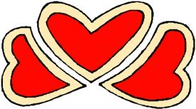 drawings of hearts 3 red love hearts decorative