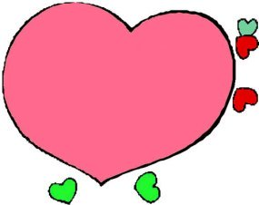 drawings of hearts pink love heart
