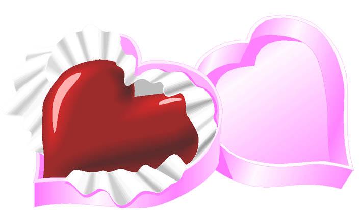 Valentine heart clipart present