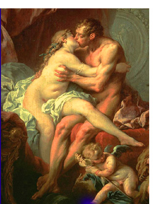 making love old painting oil couple having sex