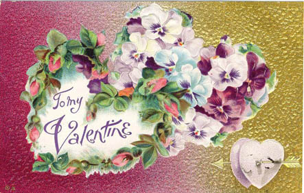 Lots of flowers making heart to my Valentine