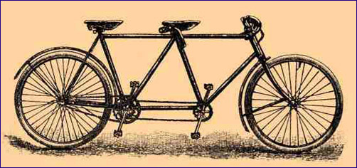 letting go letting god old bicycle drawing tandem