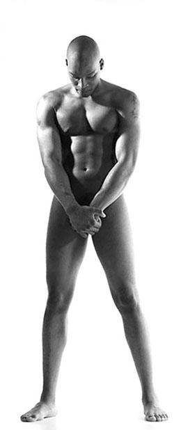 Bare bodies man standing