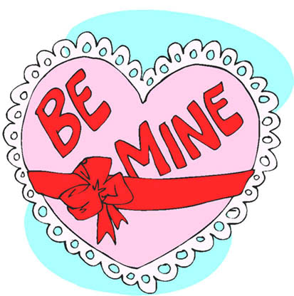 be mine pink valentine love heart present