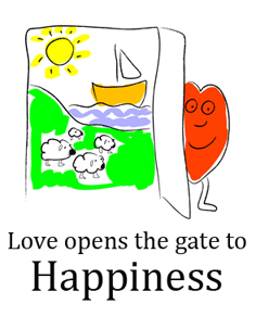 Love opens the gate to happiness