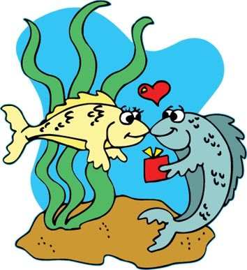 cartoon fish love present