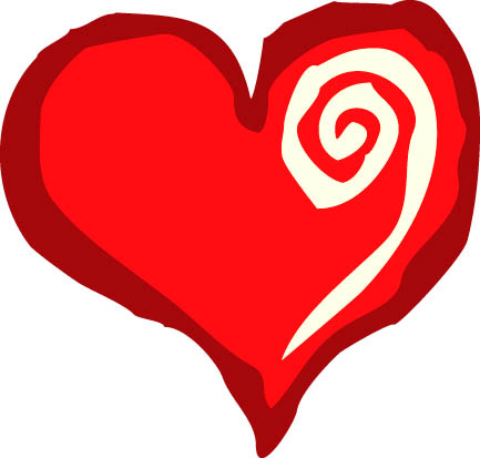 change symbol on red love heart