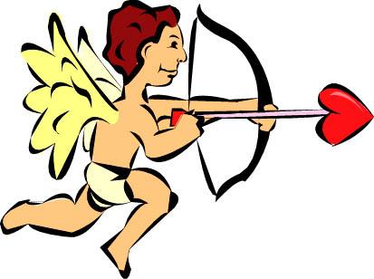 cupid big red love heart arrowpoint
