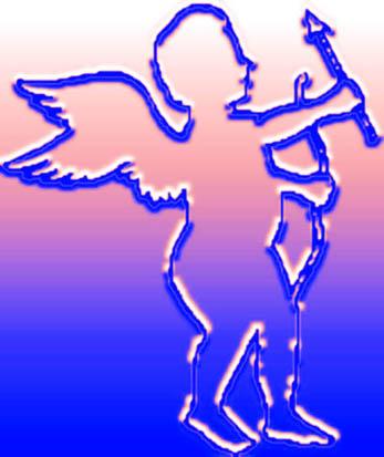 blue cupid sketch arrow