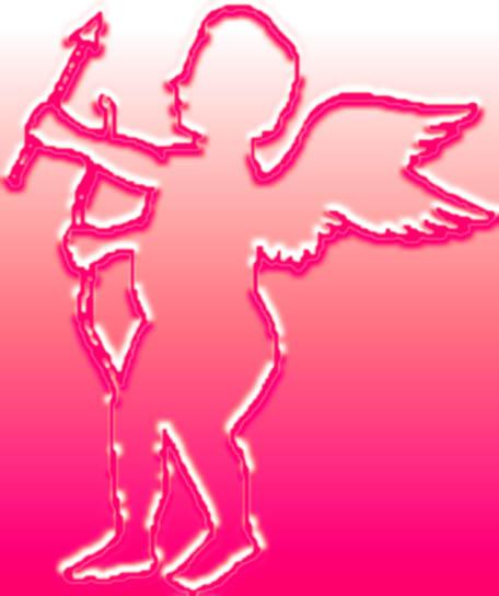 pink cupid sketch arrow