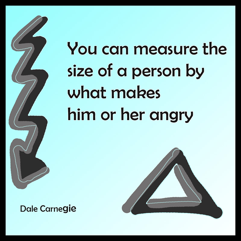 Dale Carnegie about anger