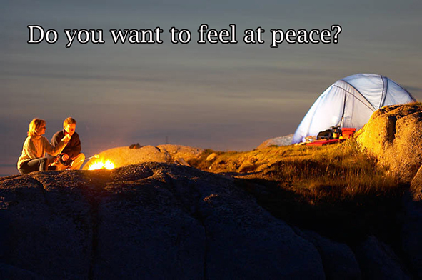 do yo want to feel at peace