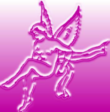 relief pink cupid sketch
