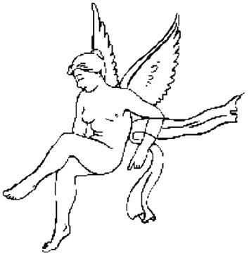 female cupid sketch naked