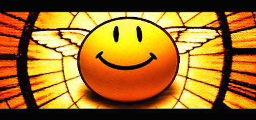 good vs evil angel smiley