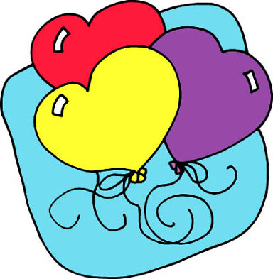 heart drawings 3 love heart shaped balloons blue