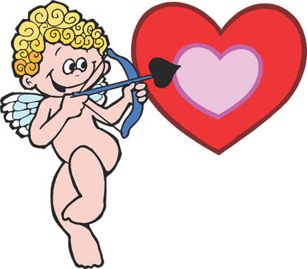 love graphics cupid aiming arrow pink red love heart
