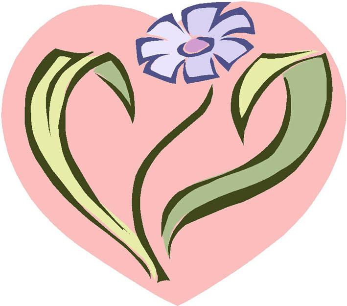 imagenes de amor pink heart flower