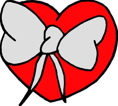 imagenes de amor red love heart bow tie