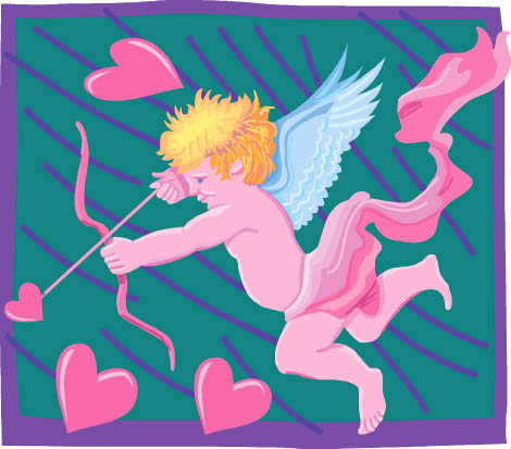 imagenes de amor cupid flying pink hearts arrow