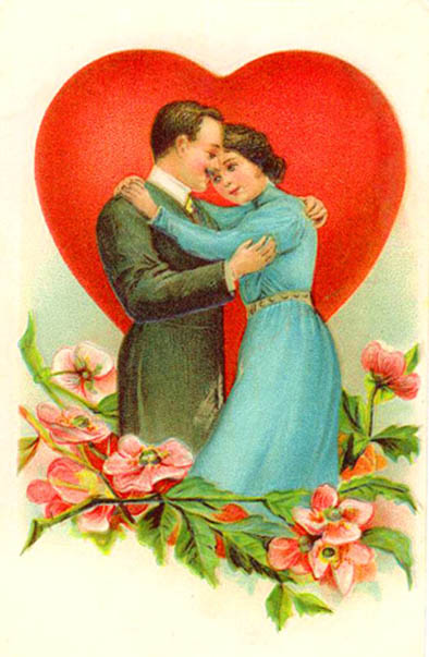 couple in love embarcing flowers red love heart