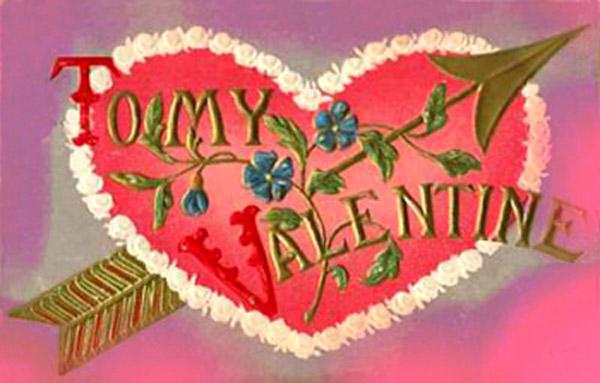 imagenes de amor old valentine card hearts arrow