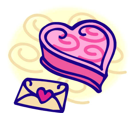 letter box heart clipart