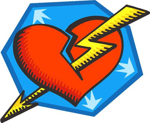 Heart struck by lightning