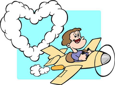 airplaine man love heart smoke