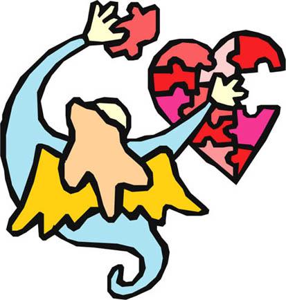 love heart drawings angel mending broken heart puzzle