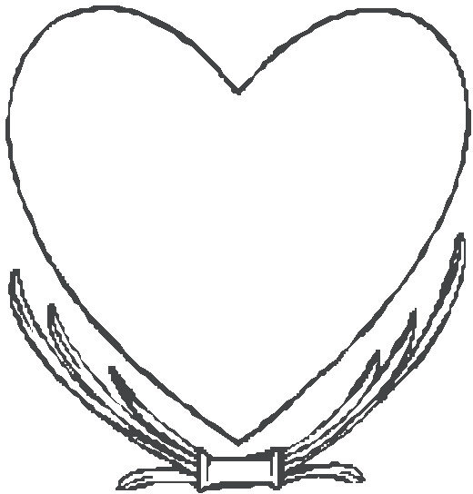 sketch black white love heart