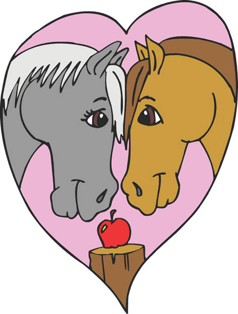 horses in love apple heart